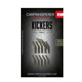De kickers zijn een soort line aligner voor op de karperhaak om zo de inhaking te verbeteren