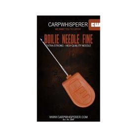 De boilie naald fijn gebruik je om boilies en tijgernoten op de hair rig te bevestigen