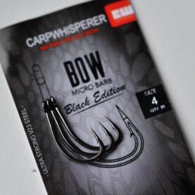 bow karperhaak black edition maat 4