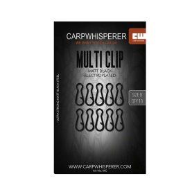 De multi clip maakt het wisselen van onderlijnmontage zeer eenvoudi