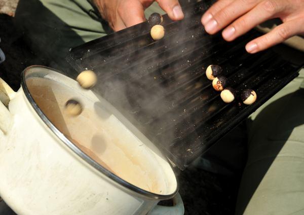 Het is belangrijk om het aas niet langer te koken of te stomen als dat strikt noodzakelijk is. Op deze manier voorkom je dat veel attractieve stoffen verloren gaan of dat het uitlekvermogen van de boilie nadelig beïnvloed wordt.