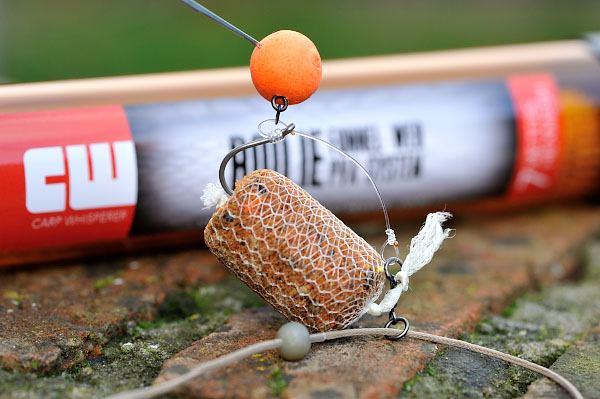 een kleine pva stick voor op de chod rig