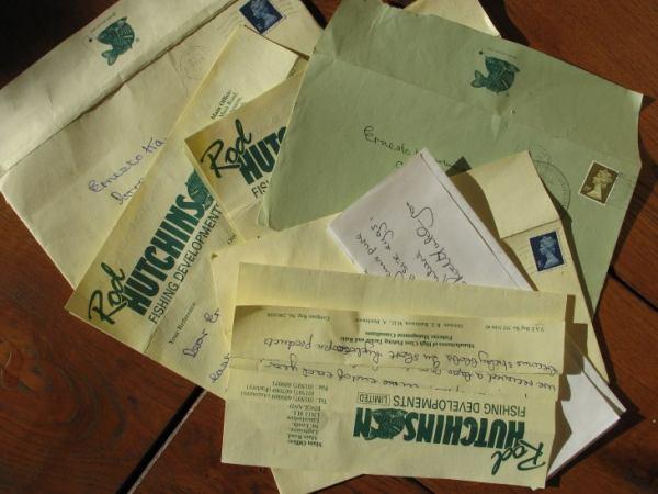 Mijn correspondentie met Rod Hutchinson in de tijd dat er nog handgeschreven brieven werden verzonden…
