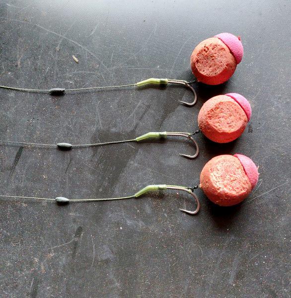 Simpele bow rigs gemaakt van onze dura link onderlijnmateriaal